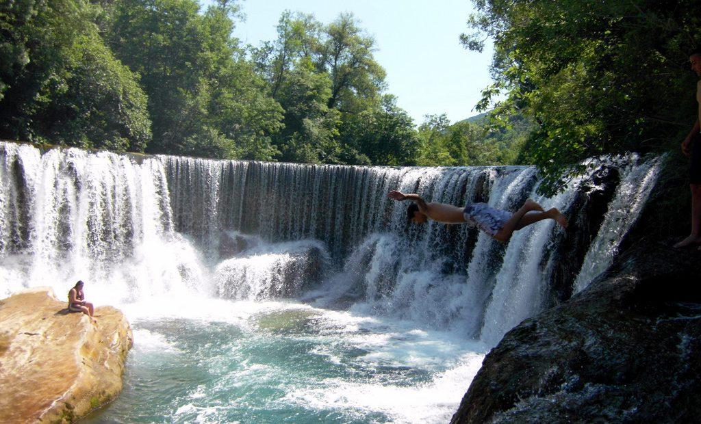 La cascade de la vis, aspect naturel et pourtant